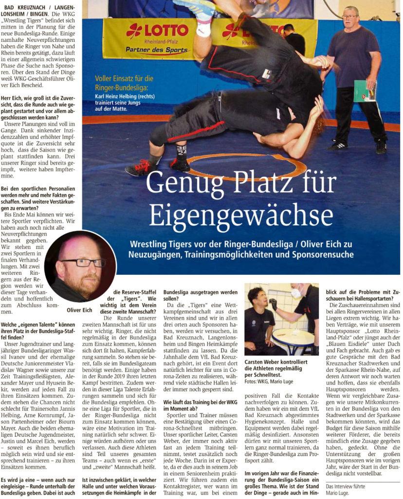 AZ KH Interview mit Geschäftsführer Oliver Eich von den Wrestling Tigers